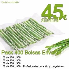 Pack 400 bolsas para envasar al vacio