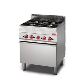 Cocina gas Gastro M 650 4 quemadores y horno gas