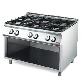 Cocina gas Gastro M 700 6 quemadores VS70/120PCG