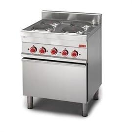 Cocina eléctrica Gastro M 650 4 placas, horno convección eléctrico 65/70 CFE