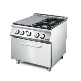 Cocina gas placa 2 quemadores y horno 70/80 TPPCFG
