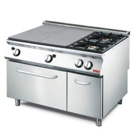 Cocina gas 2 quemadores y horno GN 2/1 70/120 TPFG
