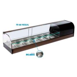 Vitrina de vidrio 1 estante 10 cubetas FR-10IE
