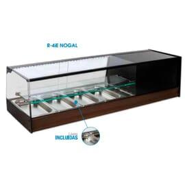Vitrina de cristal recto con estante R-4IE