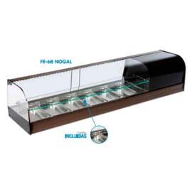 Vitrina refrigerada con 1 estante 8 cubetas R-8IE