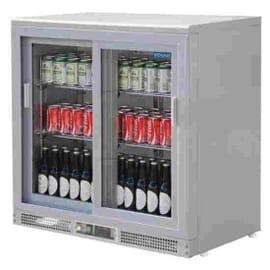 Enfriador expositor de bar plateado 180 botellas Polar