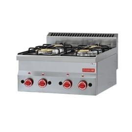 Cocina a gas cuatro fuegos