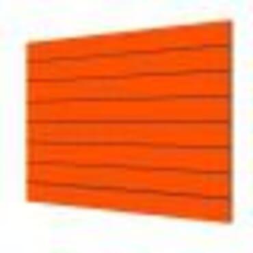 Panel de lama color naranja 120 x 120