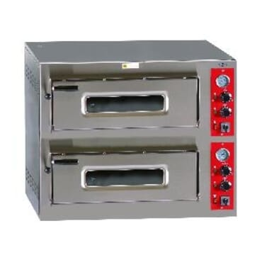 Horno de pizza eléctrico, HP- 6+6/ 330 mm